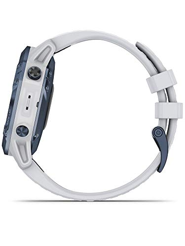 Garmin Fenix 6 Pro Solar Edition Whitestone Rubber Strap Watch 010-02410-19 9