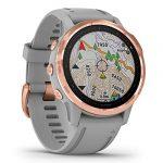Garmin Fenix 6S Sapphire Multisport GPS Watch, Rose Gold-Tone with Powder Grey Band 25