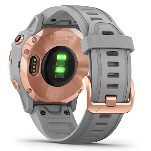 Garmin Fenix 6S Sapphire Multisport GPS Watch, Rose Gold-Tone with Powder Grey Band 8