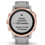 Garmin Fenix 6S Sapphire Multisport GPS Watch, Rose Gold-Tone with Powder Grey Band 28