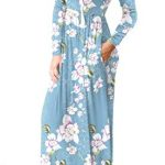 HAOMEILI Women's Casual Long/Short Sleeve Maxi Dress with Pockets 12