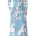 HAOMEILI Women's Casual Long/Short Sleeve Maxi Dress with Pockets 11