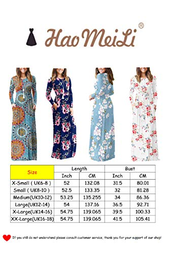 HAOMEILI Women's Casual Long/Short Sleeve Maxi Dress with Pockets 5