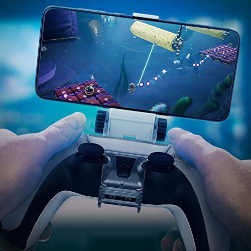 HONEYWHALE PS5 Controller Phone Mount Clip, Foldable Mobile Phone Holder Cellphone Clamp Mount Clamp Bracket with… 5