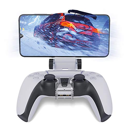 HONEYWHALE PS5 Controller Phone Mount Clip, Foldable Mobile Phone Holder Cellphone Clamp Mount Clamp Bracket with… 6