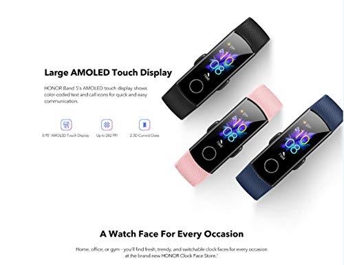 HONOR Band 5 Fitness Tracker Smart Watch IP 68 Waterproof Activity Tracker Watch Men Women AMOLED Screen Blood Oxygen… 6