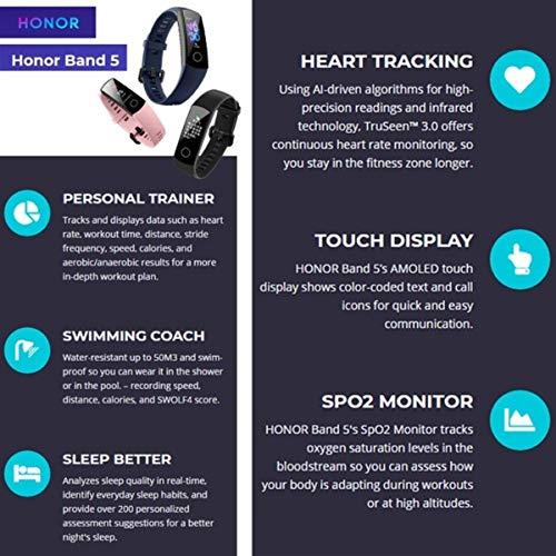 HONOR Band 5 Fitness Tracker Smart Watch IP 68 Waterproof Activity Tracker Watch Men Women AMOLED Screen Blood Oxygen… 7