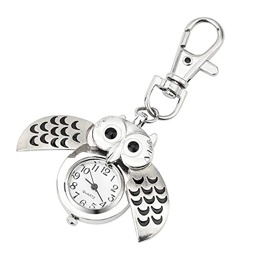 HOOUDO Clearance Watches for Womens Sale Cheap Analog Quartz Stainless Steel Gorgeous Owl Watch Clip Pocket Watch Gifts… 1