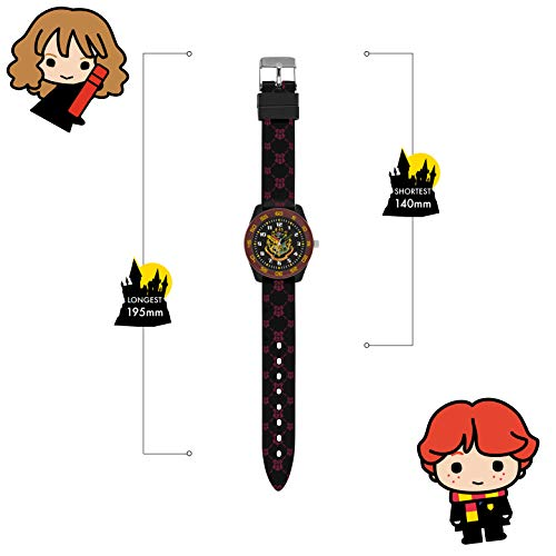 Harry Potter Unisex Kid's Analogue Analog Quartz Watch with Rubber Strap HP9050 3