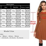 Hawiton Women's Jumper Dress Cable Twist Long Sleeve A-line Knitted Dress Sweater Dress Long Pullover for Winter 19
