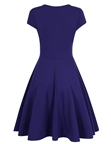 HiQueen Women V-Neck A-Line Fit Flare Swing Party Dress 6