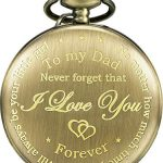 Dad Gift from Daughter to Father Engraved Pocket Watch - No Matter How Much Time Passes, I Will Always Be Your Little… 25