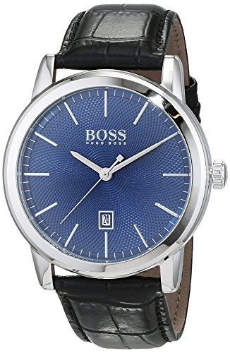 Hugo Boss Men's Analogue Quartz Watch with Leather Strap 1513400 1