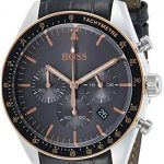 Hugo Boss Men's Chronograph Quartz Watch with Leather Strap 1513628 19