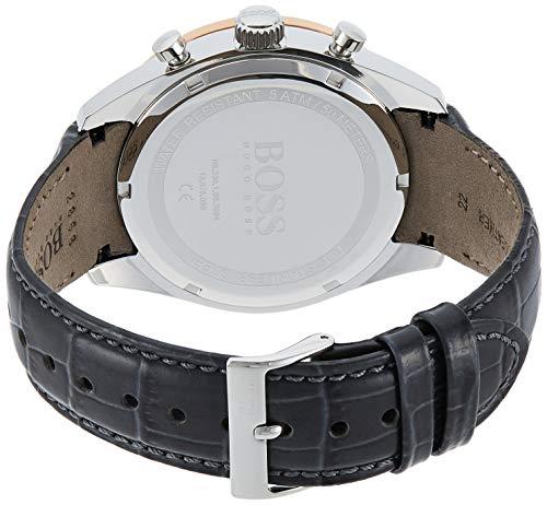Hugo Boss Men's Chronograph Quartz Watch with Leather Strap 1513628 6