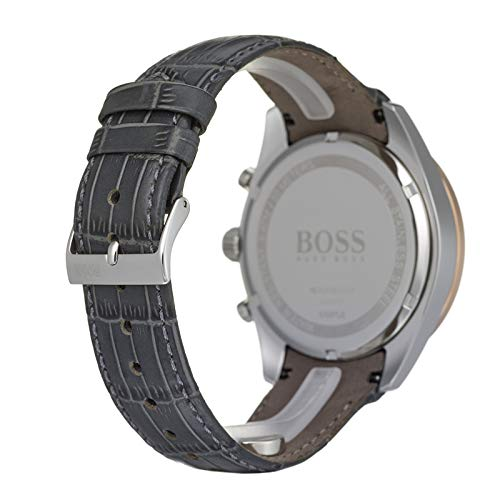Hugo Boss Men's Chronograph Quartz Watch with Leather Strap 1513628 7
