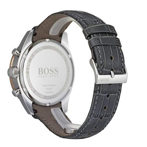 Hugo Boss Men's Chronograph Quartz Watch with Leather Strap 1513628 8