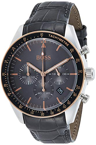 Hugo Boss Men's Chronograph Quartz Watch with Leather Strap 1513628 1