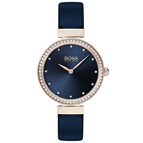 Hugo Boss Women's Analogue Classic Quartz Watch with Leather Strap 1502477 1