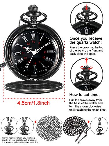 Memory Gift to My Grandson Pocket Watch, I Love You to Grandson Gift from Grandpa Grandma 1