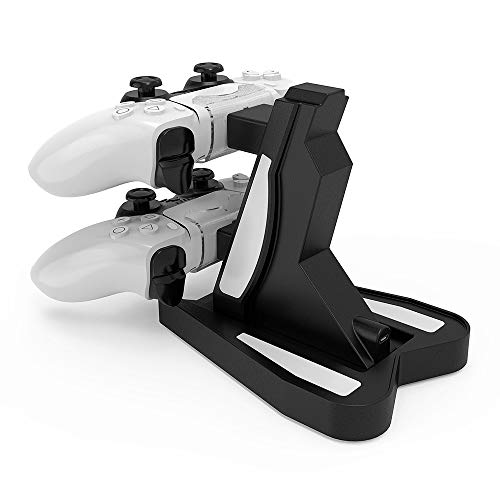 Jingmoyouxi Dual USB Charging Charger Docking Station Stand for Sony Playstation 5 PS5 Controller, PS5 Digital Edition… 4