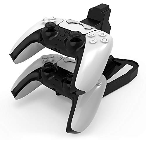 Jingmoyouxi Dual USB Charging Charger Docking Station Stand for Sony Playstation 5 PS5 Controller, PS5 Digital Edition… 1