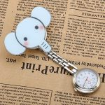 JSDDE Nurses Fashion Coloured Quartz Clip-on Fob Brooch Hanging Pocket Watches - Cute Animal 18