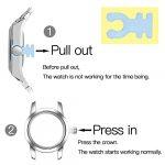 JSDDE Women's Classical Arabic Numerals Rose Gold Tone Analog Quartz Wrist Watch with PU Leather Strap 23