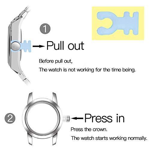 JSDDE Women's Classical Arabic Numerals Rose Gold Tone Analog Quartz Wrist Watch with PU Leather Strap 8