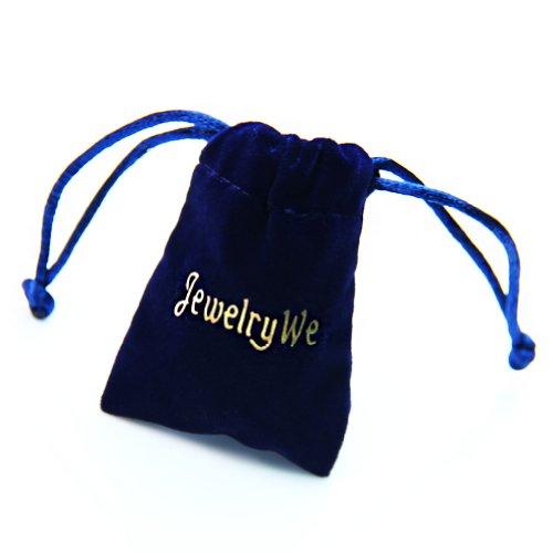 JewelryWe Vintage Pocket Watch,Heart Locket Style Pendant Pocket Watch Necklace for Girls Lady Women 1