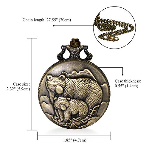 """JewelryWe Men Pocket Watch Classic Vintage Pendant Watch """"to My Son"""" Watch Gift for Father Mother Son Necklace Watch with Chain 3"""