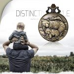 """JewelryWe Men Pocket Watch Classic Vintage Pendant Watch """"to My Son"""" Watch Gift for Father Mother Son Necklace Watch with Chain 19"""