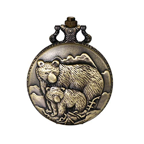 """JewelryWe Men Pocket Watch Classic Vintage Pendant Watch """"to My Son"""" Watch Gift for Father Mother Son Necklace Watch with Chain 2"""
