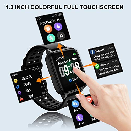 Jogfit Smart Watch Pedometer Fitness Tracker, Activity Tracker Health Sport Watch Waterproof IP68 Heart with Rate… 4