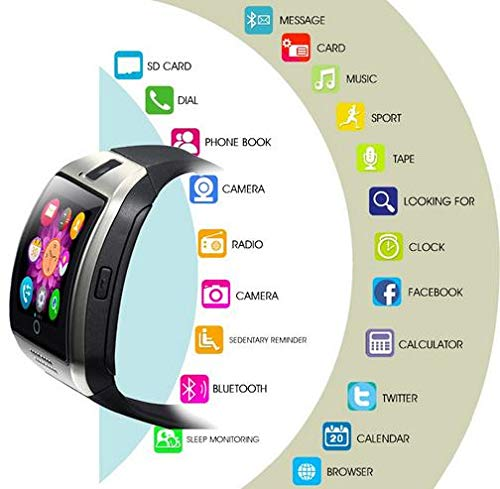 Smart Watch, KXCD Bluetooth Smart Fitness Smart Watches With Camera For Android Smartphone 3