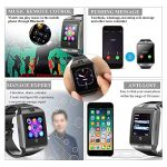 KXCD Bluetooth Smart Watches Q18 with Camera for Android Phone IOS iphone Huawei Samsung 20