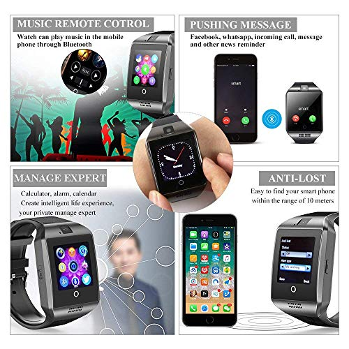 Smart Watch, KXCD Bluetooth Smart Fitness Smart Watches With Camera For Android Smartphone 4