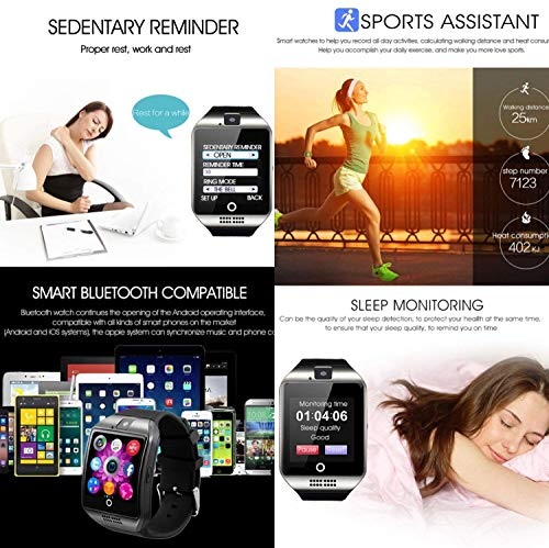 Smart Watch, KXCD Bluetooth Smart Fitness Smart Watches With Camera For Android Smartphone 7