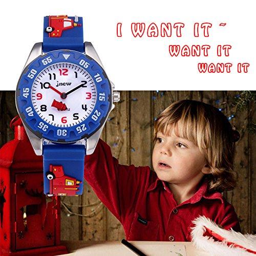 Kids Analog Watches for Boys Girls, Childrens Sports Waterproof 3D Cute Cartoon Toy Watch, Boys Girls Teaching Wrist… 4
