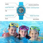 Kids Digital Sport Waterproof Watch for Girls Boys, Kid Sports Outdoor LED Electrical Watches with Luminous Alarm… 18