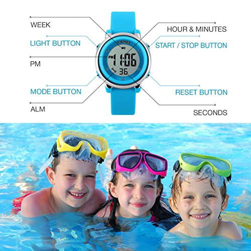 Kids Digital Sport Waterproof Watch for Girls Boys, Kid Sports Outdoor LED Electrical Watches with Luminous Alarm… 3