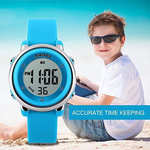 Kids Digital Sport Waterproof Watch for Girls Boys, Kid Sports Outdoor LED Electrical Watches with Luminous Alarm… 4