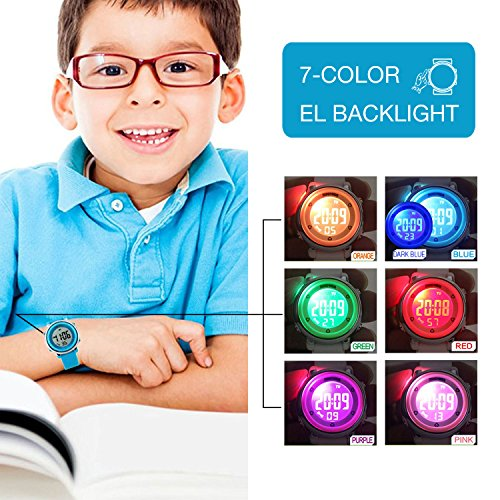 Kids Digital Sport Waterproof Watch for Girls Boys, Kid Sports Outdoor LED Electrical Watches with Luminous Alarm… 6