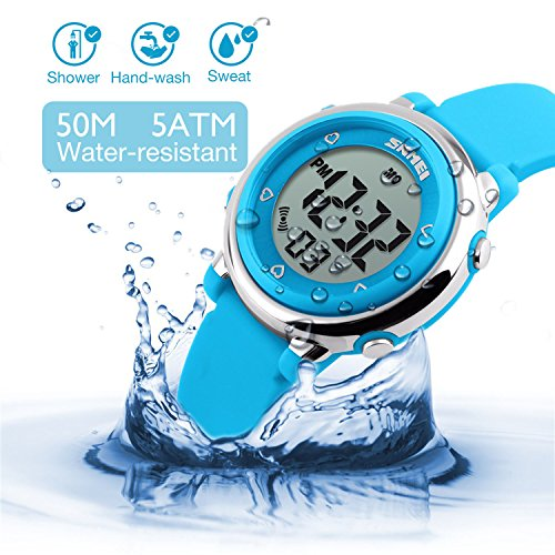 Kids Digital Sport Waterproof Watch for Girls Boys, Kid Sports Outdoor LED Electrical Watches with Luminous Alarm… 8