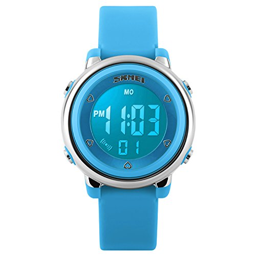 Kids Digital Sport Waterproof Watch for Girls Boys, Kid Sports Outdoor LED Electrical Watches with Luminous Alarm… 1
