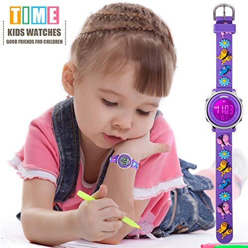 Kids Watch for Boys Girls 3D Cute Cartoon Toddler Watch Digital Silicone Band Alarm Stopwatch Digital Child Wristwatch… 4