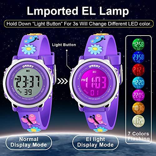 Kids Watch for Boys Girls 3D Cute Cartoon Toddler Watch Digital Silicone Band Alarm Stopwatch Digital Child Wristwatch… 5