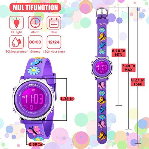 Kids Watch for Boys Girls 3D Cute Cartoon Toddler Watch Digital Silicone Band Alarm Stopwatch Digital Child Wristwatch… 6