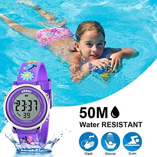 Kids Watch for Boys Girls 3D Cute Cartoon Toddler Watch Digital Silicone Band Alarm Stopwatch Digital Child Wristwatch… 7