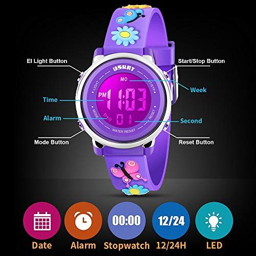 Kids Watch for Boys Girls 3D Cute Cartoon Toddler Watch Digital Silicone Band Alarm Stopwatch Digital Child Wristwatch… 8